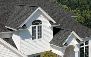 picture of a newly installed roofing shingles