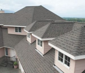 image of asphalt roofing installed