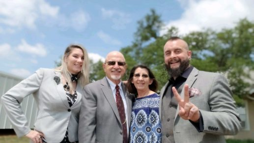 Dustin's Family with Mother, Father & Wife